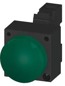 Green, Complete Unit, 24V AC/DC LED