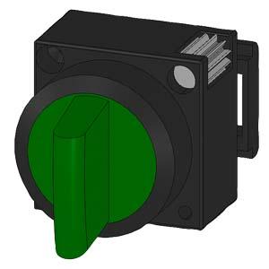 0-I, Green, illuminated