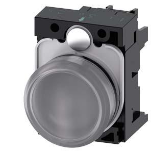 Clear, w/ holder, 24V AC/DC LED