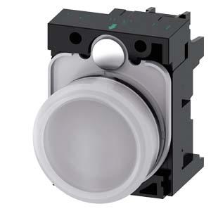 White, w/ holder, 24V AC/DC LED