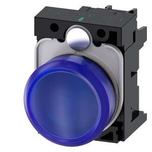 Blue, w/ holder, 24V AC/DC LED