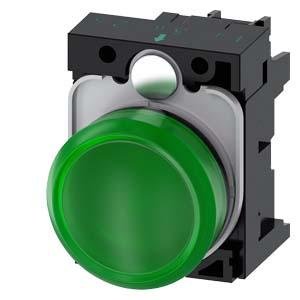Green, w/ holder, 24V AC/DC LED