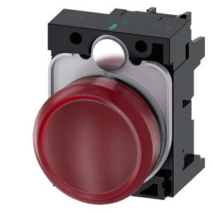 Red, w/ holder, 24V AC/DC LED