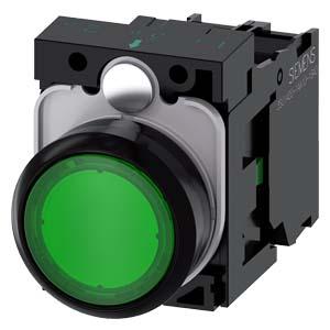 Green, w/ holder, 1NO, 24V AC/DC LED
