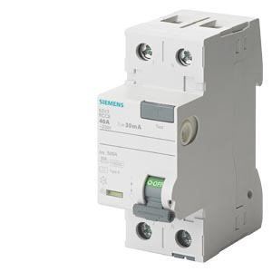2-pole, 25A Residual current